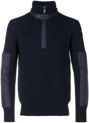 Moncler zipped neck jumper