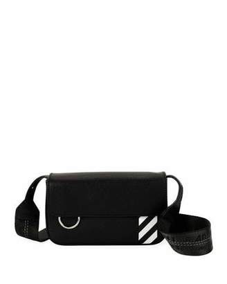 Off-White Men's Diagonal-Panel Flap Crossbody Bag