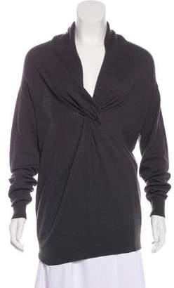Lanvin Camel Knit Long Sleeve Top
