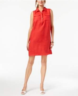 Charter Club Linen Sleeveless Shift Dress, Created for Macy's