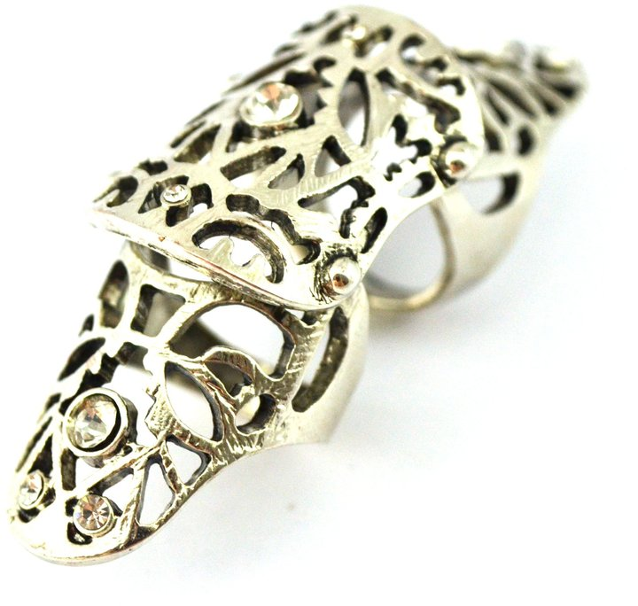 Forever 21 Filigree Knuckle Ring, Silver