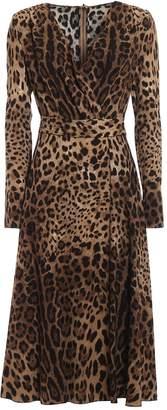 Dolce & Gabbana Leopard Flared Dress