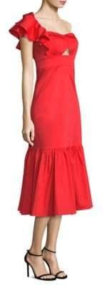 Rebecca Taylor Ruffled One-Shoulder Flounce Dress