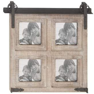 Gracie Oaks Waldwick Rustic 4-Opening Square Wall Picture Frame