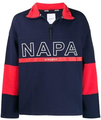 Napapijri logo printed fleece pullover