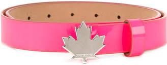 DSQUARED2 Maple leaf buckle belt