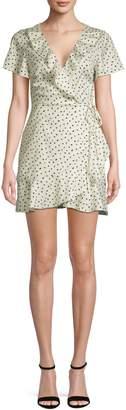 Missguided Polka Dot Frill Wrap Dress