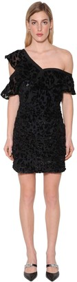 Self-Portrait Self Portrait Leopard Devore Mini Dress