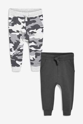 Next Boys Camouflage/Charcoal Joggers Two Pack (3mths-7yrs)