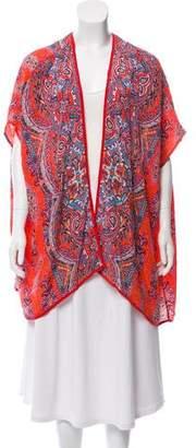 Tolani Silk Abstract Print Top w/ Tags