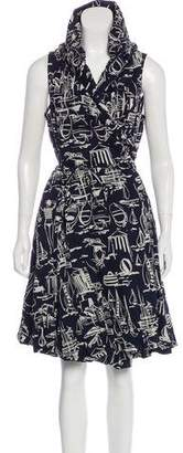 Max & Co. MAX&Co. Abstract Print Wrap Dress