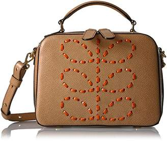 Orla Kiely Laced Stem Leather Mini Bay Bag