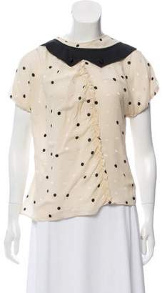 Marc by Marc Jacobs Polka Dot Short Sleeve Blouse