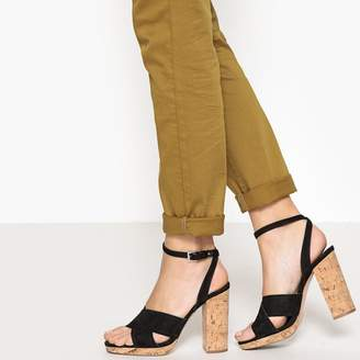 46ea1db59ef La Redoute COLLECTIONS Cork Heel Sandals