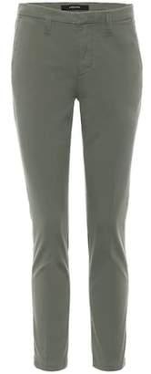 J Brand Clara mid-rise cigarette trousers