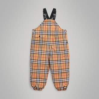 Burberry Childrens Showerproof Vintage Check Down-filled Dungarees