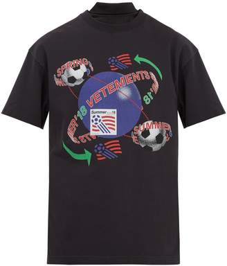 Vetements Football-print reconstructed T-shirt