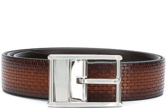 Canali tonal buckle belt