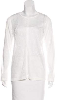 Alexis Semi-Sheer Long Sleeve Top