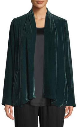 Eileen Fisher Velvet Open-Front Jacket, Plus Size