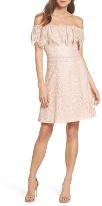 Julia Jordan Off the Shoulder Lace Dress