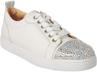Christian Louboutin Junior Strass Embellished Leather Sneaker