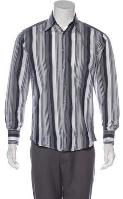 Versace V2 Woven Striped Shirt