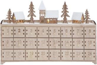 CREATIVE CO-OP Wood Advent Calendar