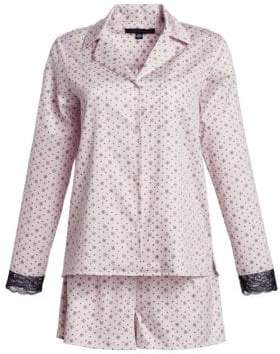 Saks Fifth Avenue COLLECTION Cotton Two-Piece Print Pajama Set