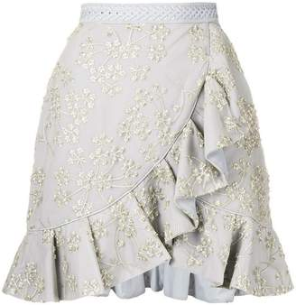 Self-Portrait asymmetric frill skirt