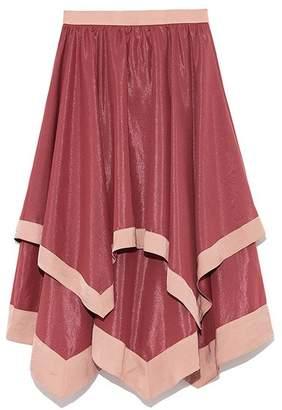 Lily Brown (リリー ブラウン) - Lily Brown 異素材ヘムラインスカート