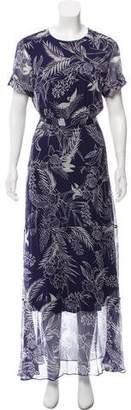 Heidi Merrick Silk Floral Print Dress