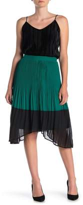 Vero Moda Colorblock Pleated Midi Skirt