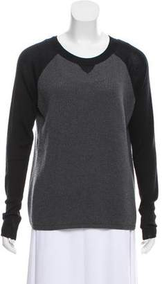 Reed Krakoff Cable Knit Colorblock Sweater