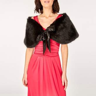 Dorothy Perkins Showcase Black Faux Fur Shrug