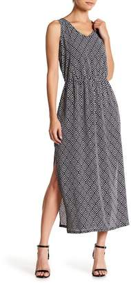 Como Vintage Printed Side Slits Crepe Maxi Dress (Petite)