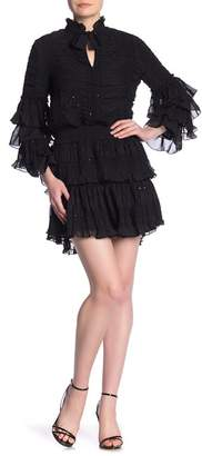 Kas Tiered Ruffle Ruched Smocked Dress
