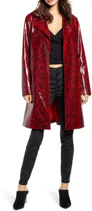 Blank NYC Blanknyc Snakeskin Faux Leather Trench Coat
