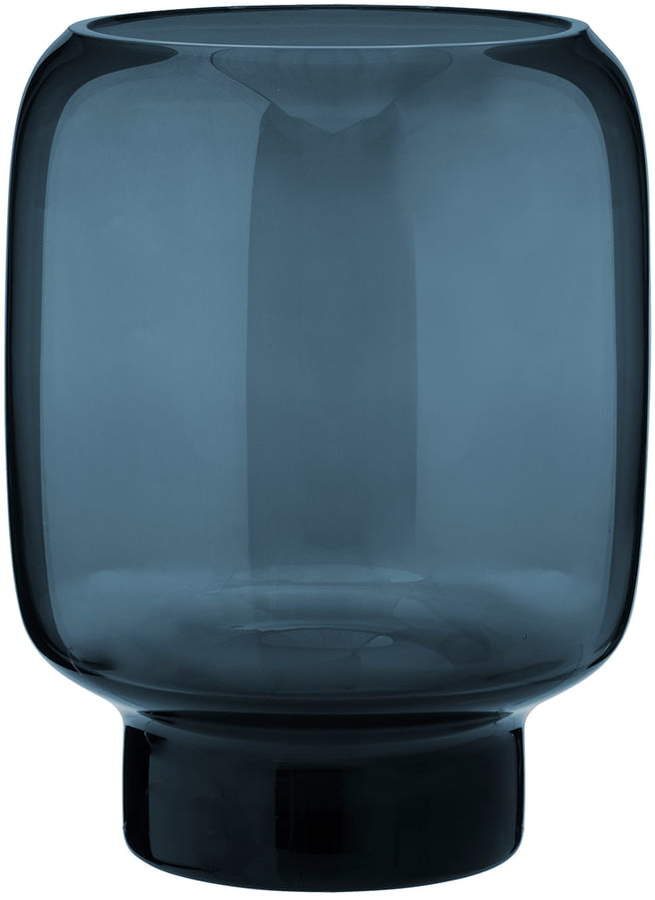 Hoop Vase, H 20 cm, midnight blue