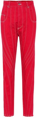 Thierry Mugler Stretch denim straight-leg jeans