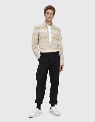 Acne Studios Isherwood Shirt in White/Khaki