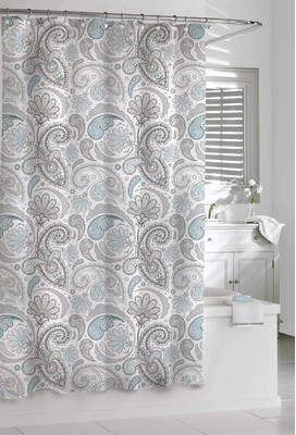Andover Mills Cogar Paisley 100% Cotton Shower Curtain