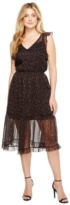 BB Dakota Cal Floral Midi Dress Women's Dress