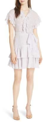 Rebecca Taylor Dree Embroidered Ruffle Dress