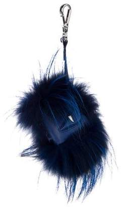 Fendi Monster Cube Bag Bug Fur Charm