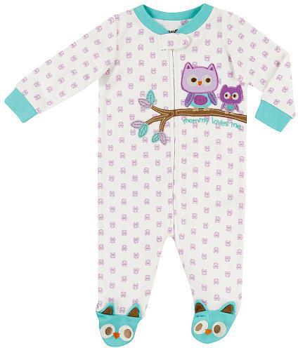 Babies 'R' Us Babies R Us Girls Organic Owl Sleep N Play - Ivory