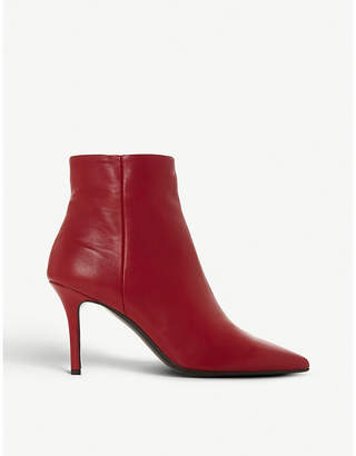 Dune Black O'Connor pointed-toe leather ankle boots