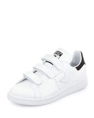adidas by Raf Simons Stan Smith Triple-Strap Sneaker, White/Black $415 thestylecure.com