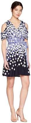 Tahari ASL Petite Jersey Dot Dress Women's Dress