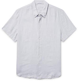 James Perse Slim-Fit Slub Linen Shirt - Men - Light gray
